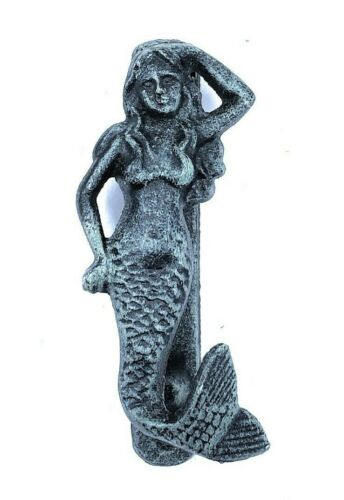 Mermaid Door Knocker Nautical Ocean Beach Home Cottage Rustic Cast Iron Decor