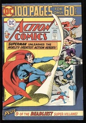 ACTION COMICS (1938) #443 8.0 VF / 100 PAGE SPECTACULAR