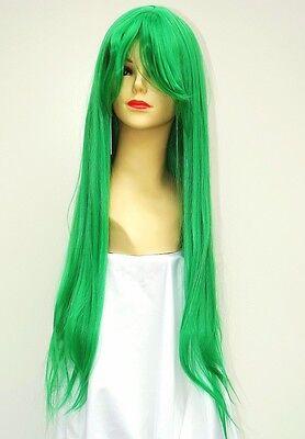 Parrucca Lunga Liscia Verde Trifoglio Shion Sonozaki - long straight green wig