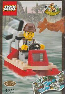 rare LEGO ADVENTURERS 5912 MIKE'S SWAMP BOAT with pterodon New sealed Dino islan - Italia - rare LEGO ADVENTURERS 5912 MIKE'S SWAMP BOAT with pterodon New sealed Dino islan - Italia