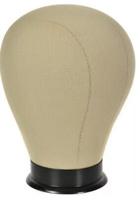 21 Wig Form Mannequin Head With Mounting Hole Bracket Canvas On Cork