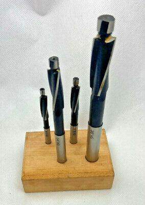 4-Piece Set High Speed Steel Socket Cap Screw Counterbore #8 #10 1/4 3/8