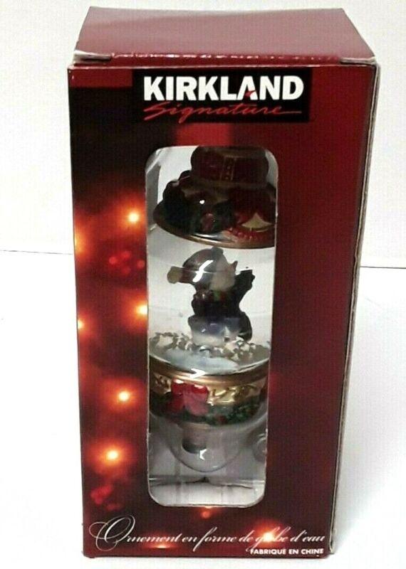 Kirkland Signature Waterglobe Christmas Tree Ornaments  Skating Snowman
