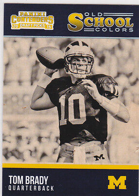 Tom Brady Michigan Wolverines Old School Colors College Ncaa Football Card Le