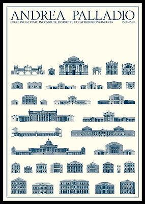 Andrea Palladio Geplante und unvollendete Bauten Poster Kunstdruck im Alu Rahmen