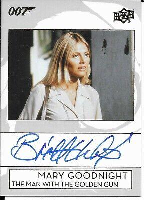 Upper Deck James Bond Collection Britt Ekland - Mary Goodnight Autograph A-EK
