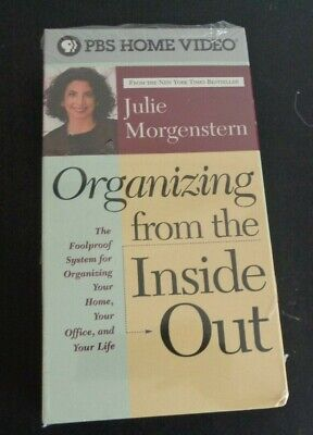 Julie Morgenstern - Organizing from the Inside Out (VHS, 2001) New PBS Free Ship