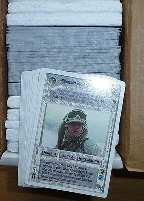 Star Wars CCG Hoth Complete Card Set UL SWCCG 162 Commander Luke General Veers