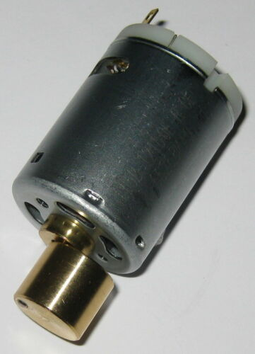12 V DC Massager and Seat Vibrator Motor - Offset Vibration Metal Weight  5 Pole