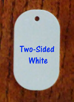 2 Sided White Gloss Aluminum Dye Sublimation Dog Tag Blanks - 100 Pieces