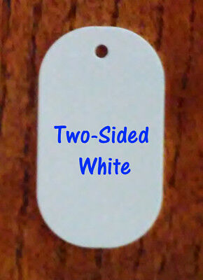 Aluminum Sublimation Big Dog Tag Blanks 2- 14 X 4- 50pcs -two Sided White