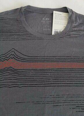 MEN'S ICEBREAKER TECH LITE MERINO Linework design MED RRP £65. Timberwolf colour