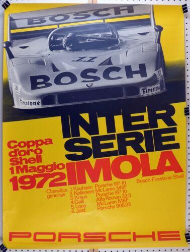 Porsche Factory poster  Interserie Imola 1972