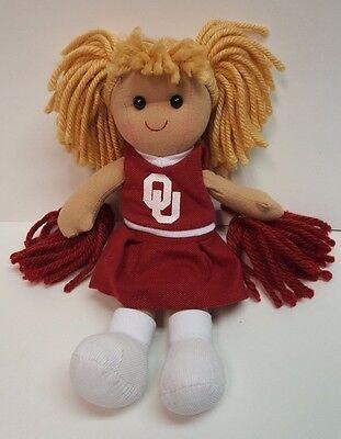 University Of Oklahoma Ou Sooners 10  Plush Cheerleader Doll
