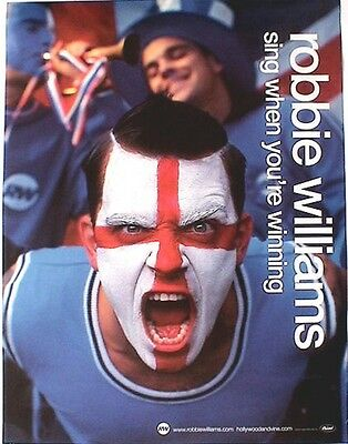 "ROBBIE WILLIAMS ""SING WHEN YOUR WINNING"" U.S. PROMO POSTER - Face Painted Fan"