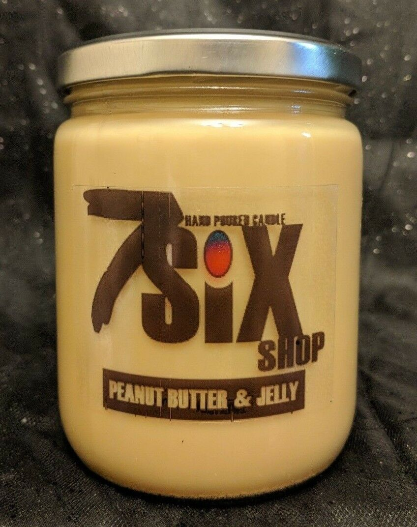16 OZ Peanut Butter N Jelly Scented Candle -- Free Shipping