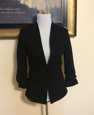 NWOT H&M Women's Fitted Blazer Black Sz 4