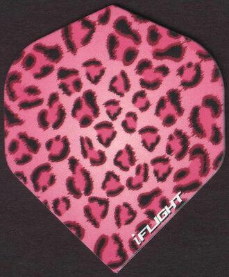 Pink Leopard Pattern Dart Flights: 3 per set