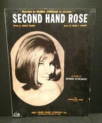 1965 Second Hand Rose Sheet Music Barbra Streisand Piano Voice T71 for sale  Shipping to South Africa