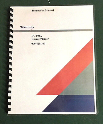 Tektronix Dc 504a Instruction Manual W 11x17 Foldouts Protective Covers