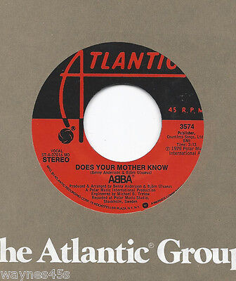 ABBA * 45 * Does Your Mother Know * 1979 * NICE CLEAN * USA ORIGINAL on ATLANTIC