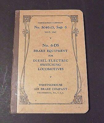 Railroad Book   Westinghouse Air Brake Company No  5046 13 Sup  6  May 1947