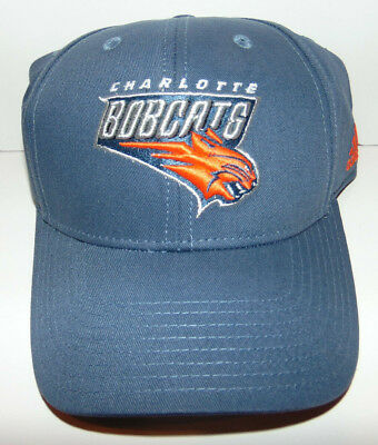 ADIDAS Charlotte Bobcats Basketball NBA Hat Cap One Size Blue NEW Defunct RARE