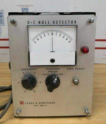 Vintage Ln Leeds Northrup Dc Null Detector Cat No 9834-2 I8137