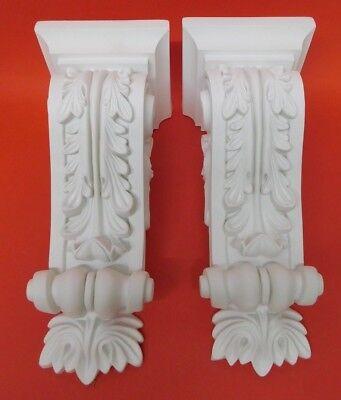 Pair of Corbels -  Resin - Not Polystyrene  - LUNETTA - 312MM X 137MM X 136MM