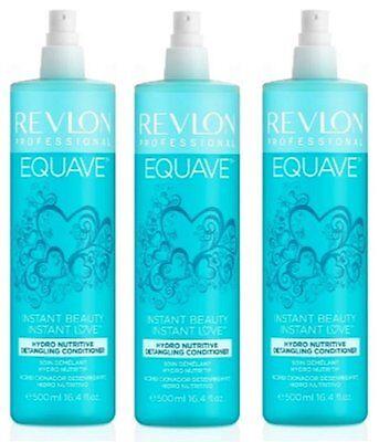 3 x Revlon Equave 2 Phase dry Conditioner trockenes Haar 500ml.