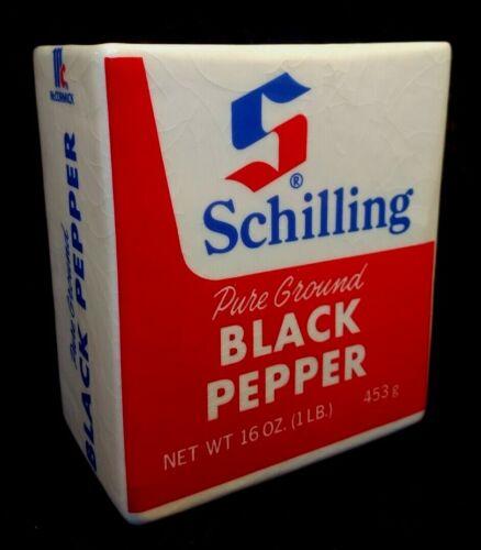 Rare - SCHILLING Black Pepper Ceramic Planter McCormick & Co.