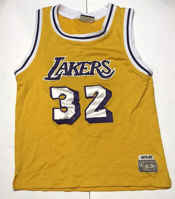 Vintage Hardwood Classics Jersey Magic Johnson 32 NBA L.A Lakers 1979-80 Size L