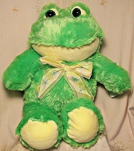 Meadow Friends EASTER GREEN FROG Toad Stuffed Animal Plush Toy Boy Girl 15""