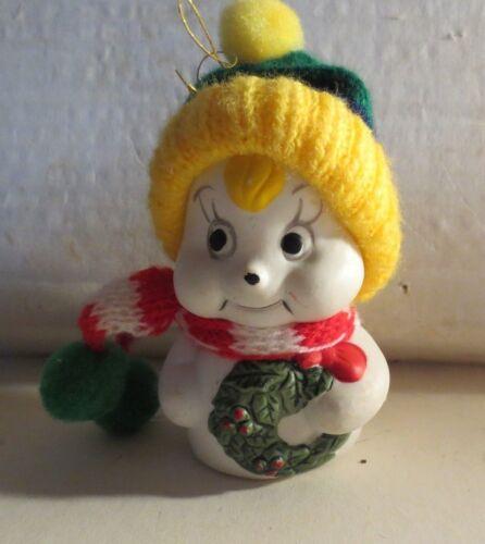 Vintage Ceramic Mouse Christmas Ornament
