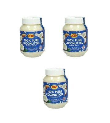 Puro Aceite de Coco Pack Tres: 3 X 500ml KTC Cocinar Masaje