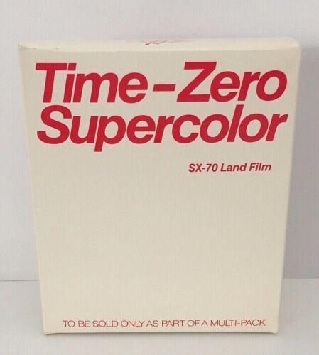 New NOS Polaroid TIME-ZERO SUPERCOLOR Color SX-70 Land Film SEALED BOX Free Ship