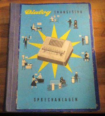 Werbe-Mappe der Firma ATEA Dialog Transistor Sprechanlagen 1960er Jahre