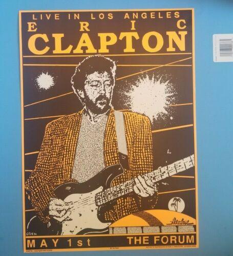"Rare - Eric Clapton Original 12x17"" Concert Poster Los Angeles Forum May 1,1990"