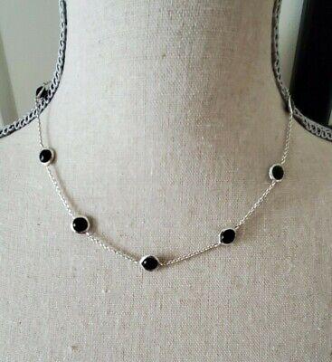 "Designer Ippolita ""Rock Candy"" Collection Black Onyx 18/16"" Necklace"