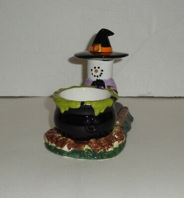 Original S'mores Halloween Witch Cauldron Tealight Candle Holder EUC  (Halloween Smores)