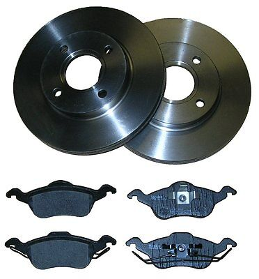 FORD FOCUS MK1 FRONT BRAKE DISCS + PADS 98-05 VENTED