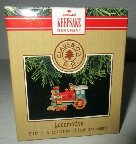 Hallmark Keepsake Locomotive Christmas Ornament 1991 Claus & Co First in Series