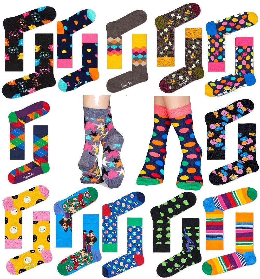 Happy Socks bunte lustige Baumwollsocken Damen & Herren Strümpfe frech gemustert