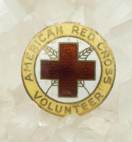 VTG American Red Cross Sterling Silver w/ Gold Plate & Enamel Pin! 376