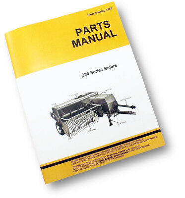 Parts Manual For John Deere 336 Hay Baler Knotter Square Exploded Views Assembly