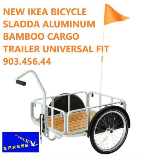 IKEA BICYCLE SLADDA ALUMINUM BAMBOO CARGO TRAILER UNIVERSAL FIT 903.456.44 NEW