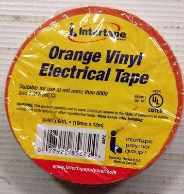Intertape - Orange - Vinyl Electrical Tape 34in X 60ft 80c Max Temp