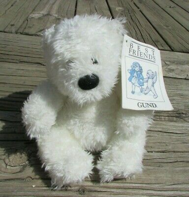 GUND Best Friends Small White Teddy Bear Collectible Tags Attached New