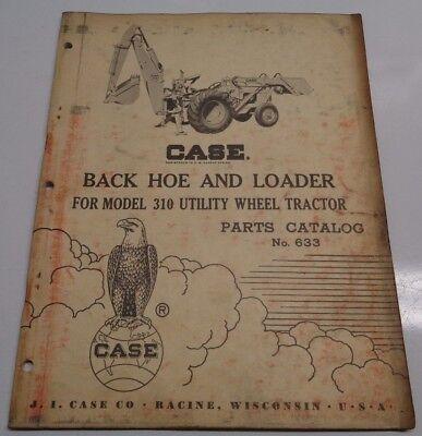 Case Backhoe Loader Parts Catalog Manual Original Fits 310 Utility Tractors
