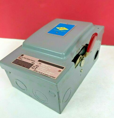 ZINSCO 30A General Duty FUSIBLE Safety DISCONNECT SWITCH 120/240V PFD-332SN NEW